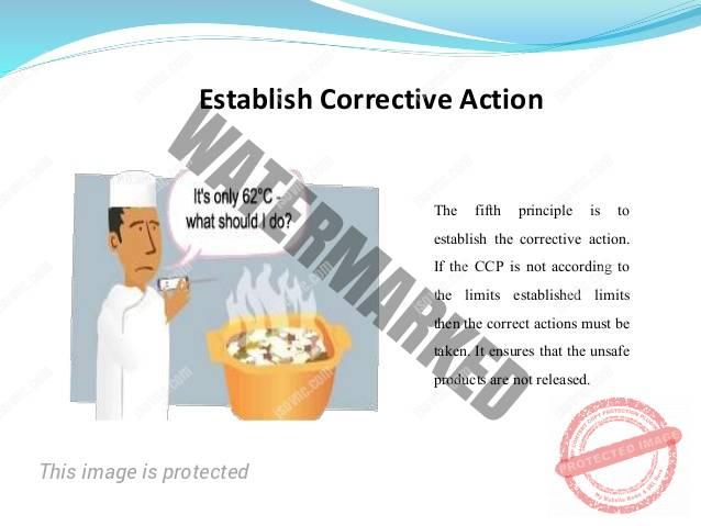 Chuyên đề HACCP: Thiết lập hành động khắc phục