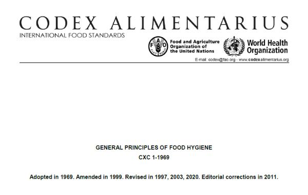 Codex ban hành tiêu chuẩn HACCP mới